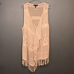 Lane Bryant Boho Tribal Open Sweater Wrap